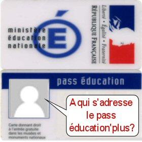 A qui s'adresse le pass éducation'plus?