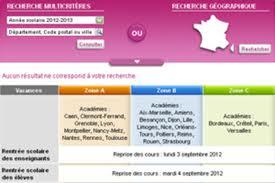 calendrier scolaire 2012 - 2013